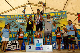 Men's winners Fuerteventura slalom 2012