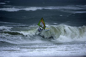 Kauli hits a churning North Sea section