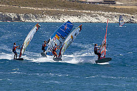 Slalom action here in Alacati