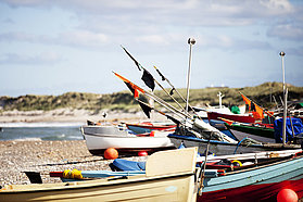 Local fishing boats