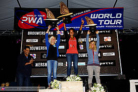 Women;s overall freestyle top three