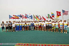 The President of Turkmenistan with the racers