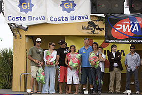 Men's and women's winners Costa Brava 2008