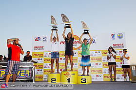 Women's Overall slalom top three