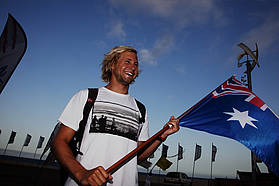 Jaeger Stone flys the Aussie flag