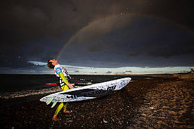 Danny Bruch catches the rainbow