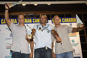 Mens slalom winners