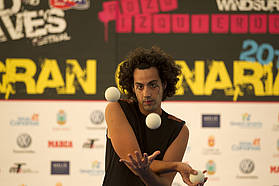 Juggling at the opening ceremony