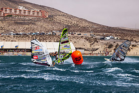 Choppy conditions for the racers