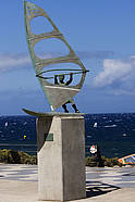 The Moreno Dunkerbeck windsurf statue