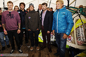 Frederik, Crown Prince of Denmark meets the sailors