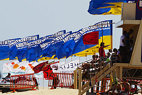 The Fuerteventura flags fly