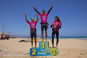 Mens beach podium