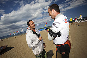 Micah Buzianis and Juan Aragon race director