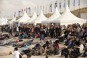 Weekend crowds gather in Sylt
