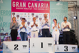 Gran Canaria prize giving ceremony