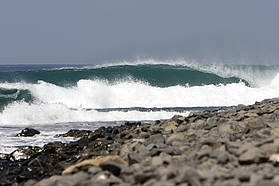 The swell starting to build in Ponta Preta