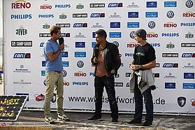 . Robert Teriitehau and Robby Naish on stage