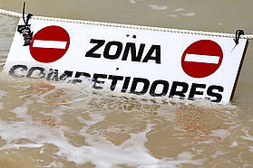 Competitors Zone submerged