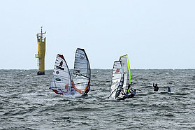 Light wind slalom here in Sylt
