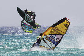 Gollito shakas as Leo Ray looks on