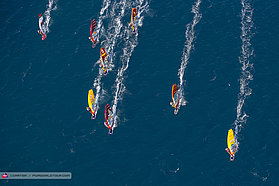 Women slalom from above