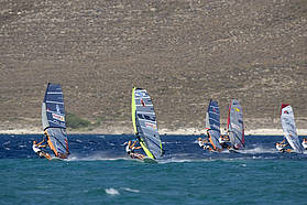 High wind slalom here in Alacati