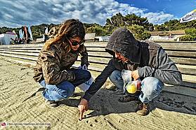 Drawing in the sand