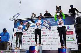 The prestigious podium in Cold Hawaii