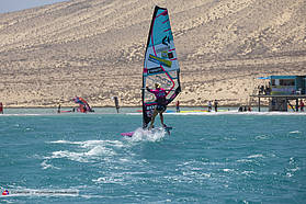 Arriane Aukes action in Fuerteventura