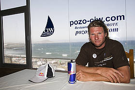 Bjorn Dunkrebeck chills out in the Pozo Center for International Windsurfing