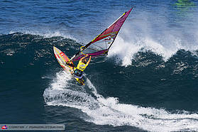 Robby Naish going for the lip