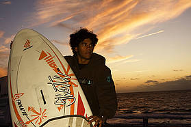 Gollito with his contest winning board
