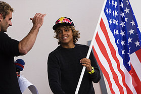 Kai Lenny yields the stars and stripes for the US team
