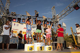 Women's slalom top three 2011