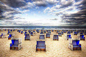 The famous Sylt deck chairs