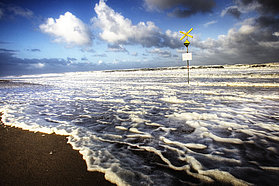Gale force winds at Sylt