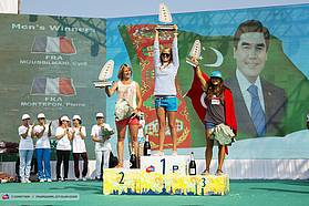 Delphine Cousin takes the victory here in Turkmenistan