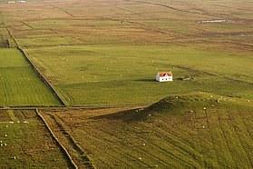 A lone Tiree farmhouse