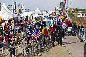 Flags at the opening ceremony