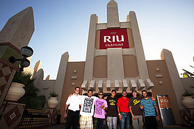 The boys at the RIU Hotel