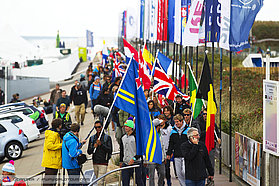 Flying the flags at the opening ceremony