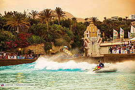 Jet ski tow in session at Siam Park