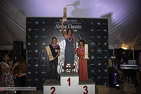 Womens podium for the Aloha