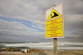 Dangerous surf here in France